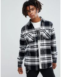 Volcom - Shader Check Shirt In White - Lyst
