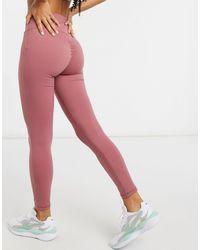 In The Style Leggings rosas deportivos con fruncido en la parte trasera de