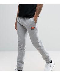 Ellesse - Skinny Joggers In Grey - Lyst