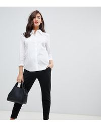 ASOS - Asos Design Maternity Basic Jersey Smart Skinny Trousers - Lyst
