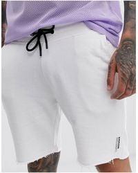 Bershka Joggers cortos en blanco