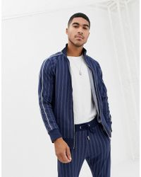 The Couture Club - Track Top In Pinstripe - Lyst