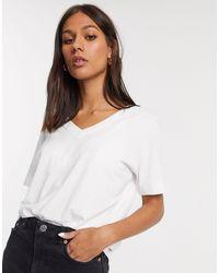 SELECTED - Camiseta blanca - Lyst