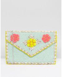 Park Lane - Embellished 3d Floral Clutch Bag With Detachable Strap - Lyst