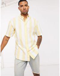 Jack & Jones Желтая Рубашка В Вертикальную Полоску Originals-желтый