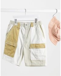 Bershka Denim Shorts - White