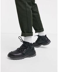Camper Черные Походные Ботинки На Массивной Подошве -черный