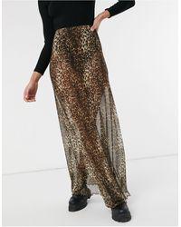 ASOS Sheer Mesh Maxi Skirt - Multicolour
