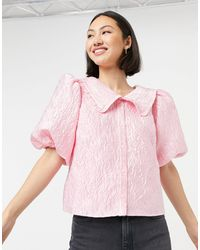 & Other Stories Top con colletto - Rosa