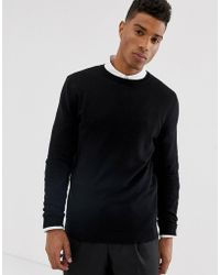 a23f24f2 Plus Oversized Long Sleeve T-shirt In Black. $19. ASOS. ASOS - Cotton  Sweater In Black - Lyst