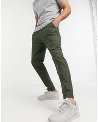 SELECTED – Hose aus Bio-Baumwolle - Grün