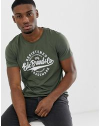 Esprit T-shirt With Heritage Print In Green