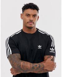 adidas Originals Adicolor Lock Up T-shirt - Black
