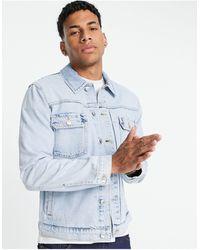 TOPMAN Голубая Выбеленная Джинсовая Куртка Классического Кроя -голубой - Синий