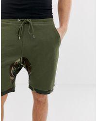 ASOS - Shorts de camuflaje con bajo extendido de - Lyst