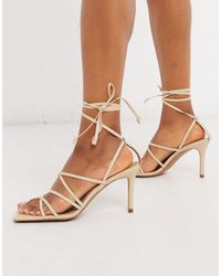 & Other Stories Strappy Square Toe Sandals - Natural
