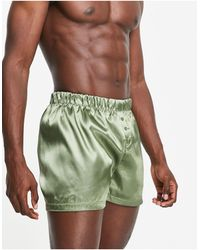 New Look Атласные Трусы-боксеры Цвета Хаки -зеленый Цвет