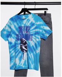 Pull&Bear Guns N Roses T-shirt - Blue