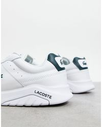 Lacoste Белые С Зеленым Кроссовки Game Advance-белый