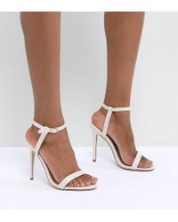 8f02b2f84314 Missguided - Exclusive Barely There Heeled Sandals - Lyst