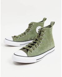 Converse – Mountain Club Chuck Taylor All Star High Top – Wildleder-Sneaker - Grün