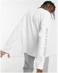 ASOS 4505 Oversized Long Sleeve T-shirt With Sleeve Print - Grey