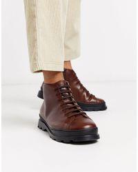 Camper Коричневые Ботинки На Шнуровке -коричневый