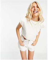 Chelsea Peers T-shirt confort à épaules oversize - crème - Neutre