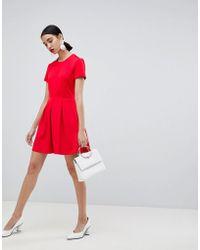 UNIQUE21 - Unique 21 Short Sleeved Sleeved Skater Dress - Lyst
