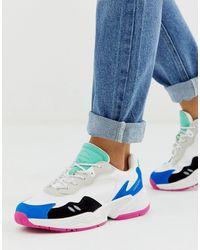 Pull&Bear Массивные Кроссовки С Разноцветными Вставками -мульти - Синий