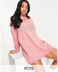 Missguided Розовое Платье-футболка -розовый Цвет