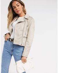 French Connection Байкерская Куртка Из Искусственной Замши -розовый