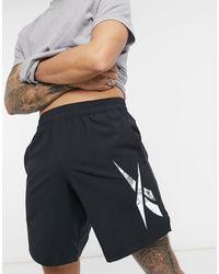 Reebok Черные Тканые Шорты С Логотипом Training-черный Цвет