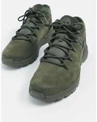 Timberland Зеленые Ботинки Euro Sprint Trekker-зеленый