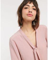 Warehouse Розовая Блузка С Завязкой -neutral - Розовый