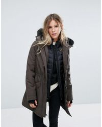 UGG - Adirondack Parka With Removable Toscana Faux Fur Trim - Lyst