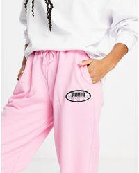PUMA Розовые Спортивные Штаны X Von Dutch-розовый
