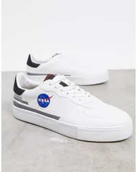 Pull&Bear Trainers With Nasa Print - White