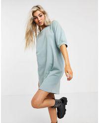 Noisy May - Mini Sweatshirt Dress With Puffed Sleeves - Lyst