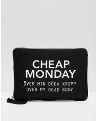 Cheap Monday - Slogan Laptop Case - Lyst