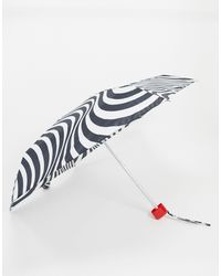 Lulu Guinness Tiny Optical Stripe Umbrella - Multicolour