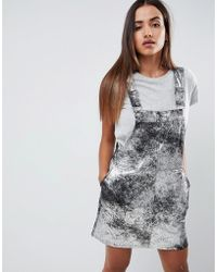 860eecdfdf Lyst - Blank NYC Denim Shirt Dress With Lace Up Front in Blue