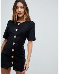 Finders Keepers - Pompeii Button Up Mini Dress - Lyst