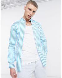 Polo Ralph Lauren Camicia slim slim button-down anni '80 - Blu