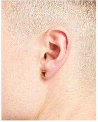 Icon Brand Triangle Stud Earring - Metallic