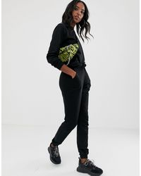 ASOS Asos Design Tall - Trainingspak Van Sweater En joggingbroek Met Trekkoord - Zwart