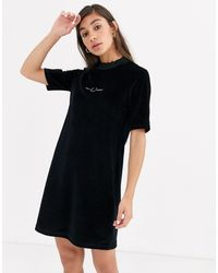 Fred Perry Velour Embroidered Dress-black