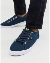 Lyle & Scott Cotton Sneakers - Blue