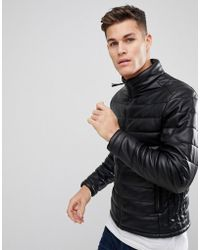 Stradivarius - Quilted Jacket In Black - Lyst