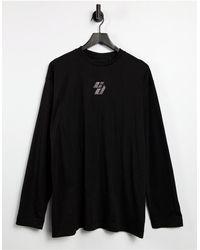 Criminal Damage - – Langärmliges T-Shirt-Kleid mit Logo mit Strassverzierung - Lyst